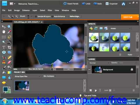 Photoshop Elements 9.0 Tutorial Applying Fills Adobe Training Lesson 9.1