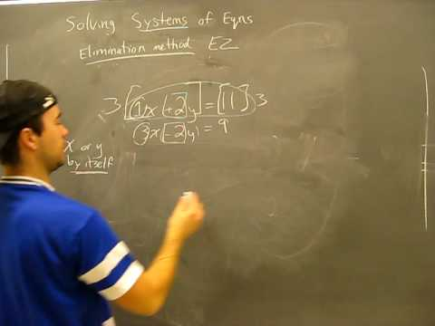 Solving Systems of Equations: Elimination Method Pt1 Algebra Math Help
