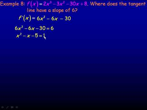 The Derivative of a Polynomial Function Part 3.avi