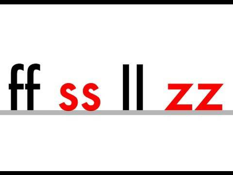 ss, ll, zz, ff - Phonics - Double Letters