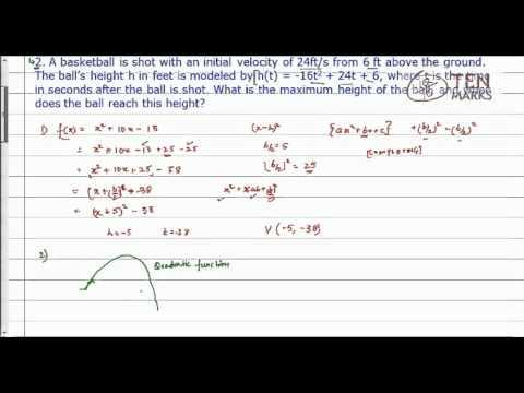Quadratic Function - Vertex form