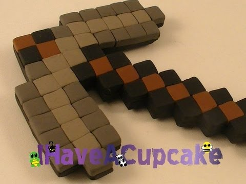 Polymer Clay Magnet - Minecraft Pickaxe