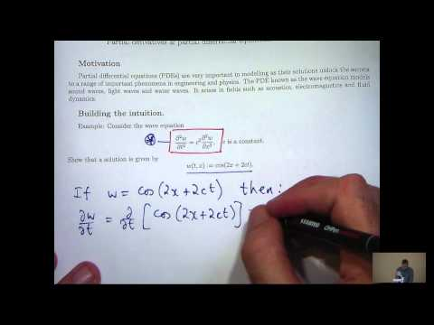 Partial derivatives and PDEs tutorial