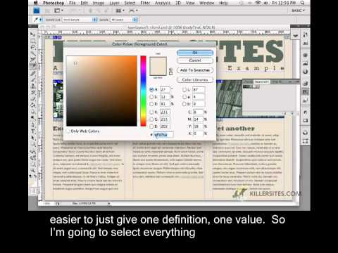 Photoshop for the Web Closed Captioned - Body Tag