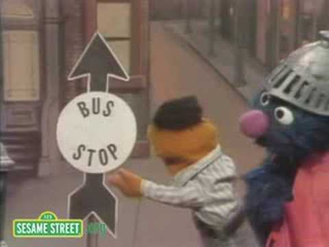 Sesame Street: Super Grover Taking A Bus