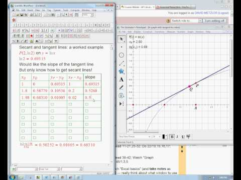 secant and tangent lines example