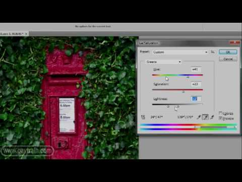 Photoshop quick tips - Hue/Saturation -Week 53