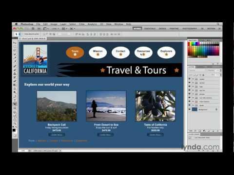 Photoshop tutorial: Introducing web graphic slicing | lynda.com