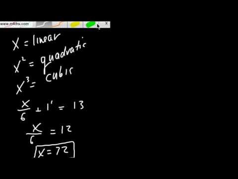 Part 7 Intro to Algebra Equations with basic fractions