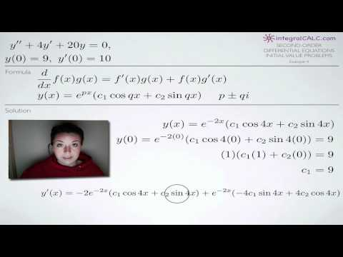 Second-Order Differential Equations Initial Value Problems Example 4