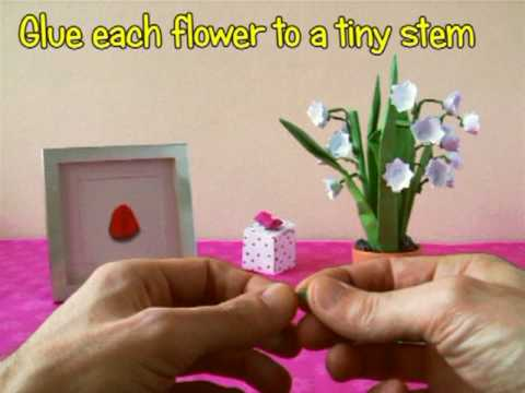 Origami Lily of the Valley