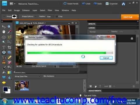 Photoshop Elements 9.0 Tutorial Online Updates Adobe Training Lesson 17.3