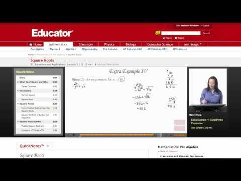Pre Algebra: Square Roots