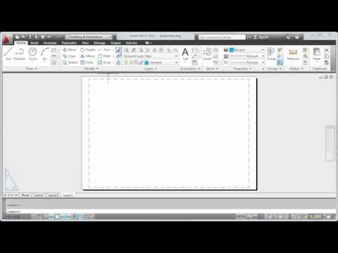 Plot a Drawing Layout — AutoCAD LT 2012