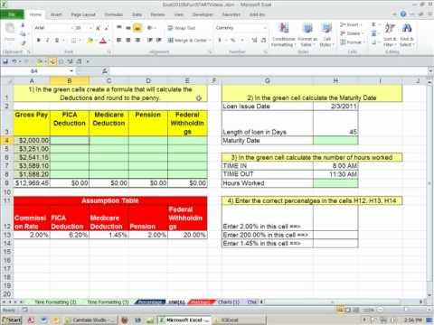Office 2010 Class #32: Excel Percentage Number Format (6 Examples)