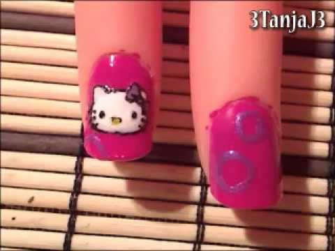 Sanrio#1: *Hello Kitty* Nail Art Design - Short Nails