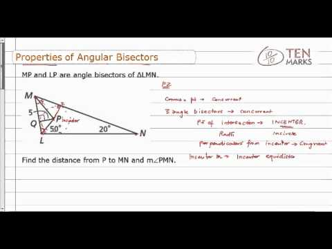 Properties of Angular Bisectors
