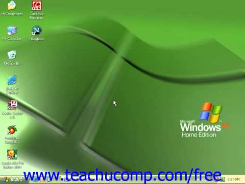 Windows XP Tutorial Broadband Microsoft Training Lesson 7.15