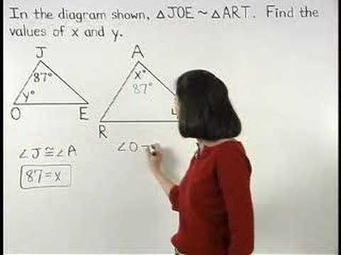 Similar Triangles - YourTeacher.com - Geometry Help