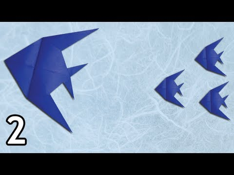 Origami Butterfly Fish by Peter Engel (Folding Instructions) ~Part Two~