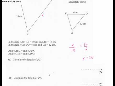 q17 Edexcel Linear Higher June 2011 calculator (quick worked example)