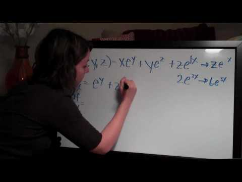 Partial Derivatives Example 3