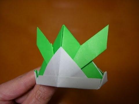 "origami tsuno-kabuto ""horned"" samurai helmet"