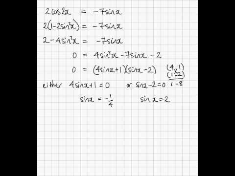 Trig Equation