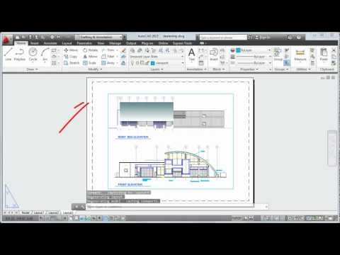 Plot a Drawing Layout: AutoCAD 2013