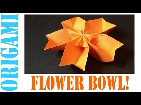 Origami Daily - 053: Modular Flower Bowl (5 Piece) - TCGames [HD]