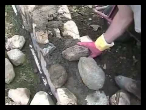 Rock wall Masonry,  some tips to get you started. (Captions used to convey information).
