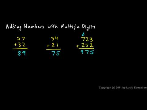 Prealgebra 1.2d - Adding Numbers with Multiple Digits
