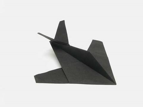Origami Stealth Figther (by Robert J. Lang) [tutorial]