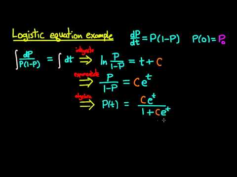 ODE | Logistic equation example