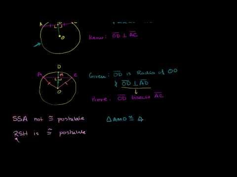 Perpendicular Radius Bisects Chord