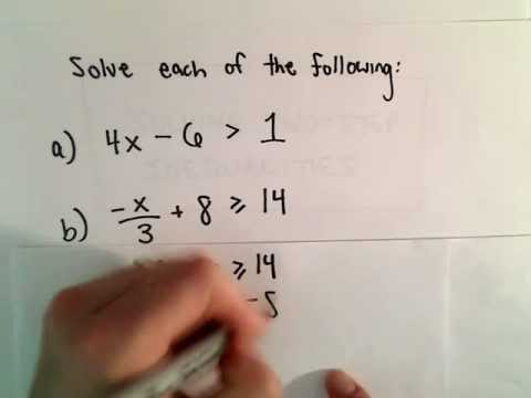 Solving Two - Step Linear Inequalities