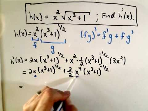 Product Rule, Chain Rule and Factoring - Ex 2