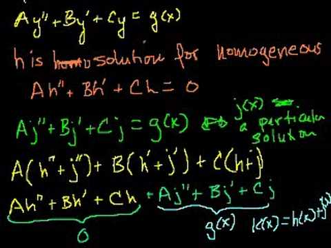 Undetermined Coefficients 1