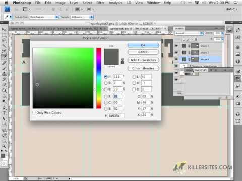Photoshop for the Web - Shape Layers