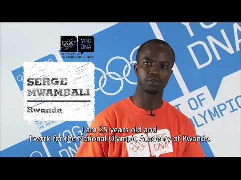 Young Ambassador - Rwanda - Serge Mwambali - Singapore 2010 Youth Olympic Games