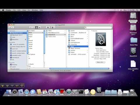 Registration and activation of Maya 2010 on a Mac