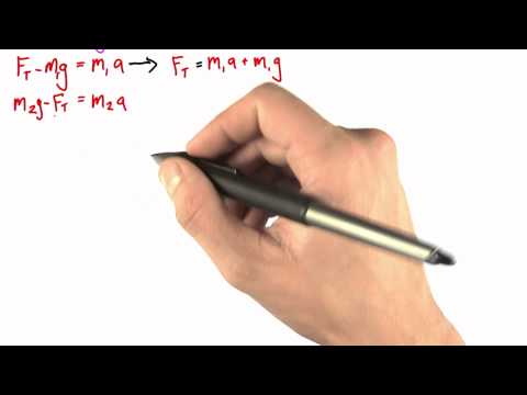 Solving the System of Equations - Intro to Physics - What causes motion - Udacity