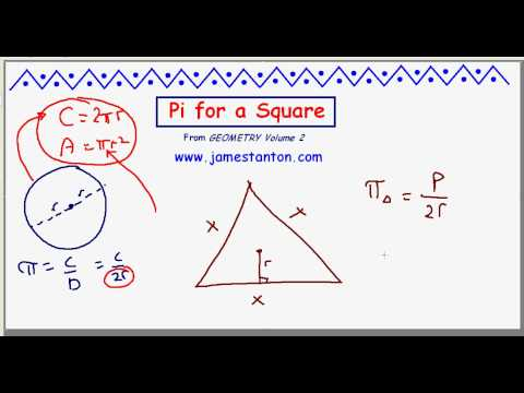 Pi for a Square (TANTON Mathematics)