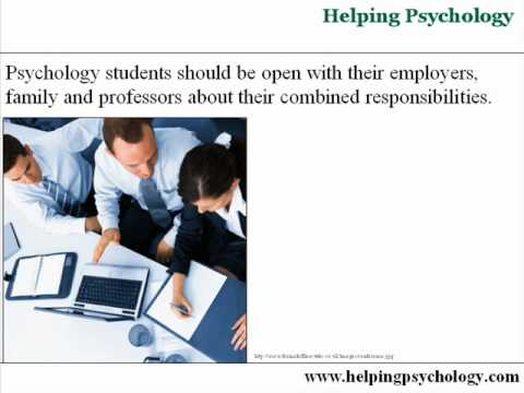 Psychology Majors: Balancing Work with School