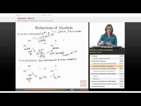 Organic Chemistry: Alcohols (Reduction)