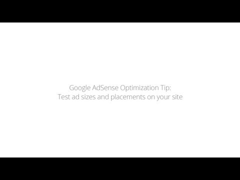Optimization Tip: Test ad sizes and placements on your site