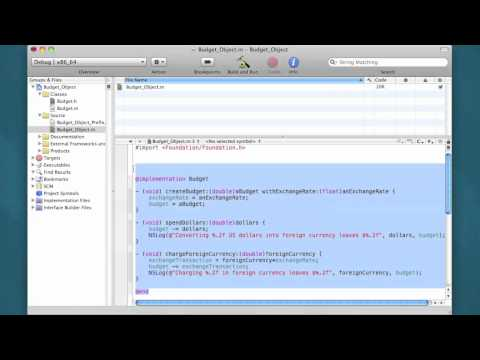 Objective-C Tutorial - Lesson 19: Splitting The Program Into Separate Files