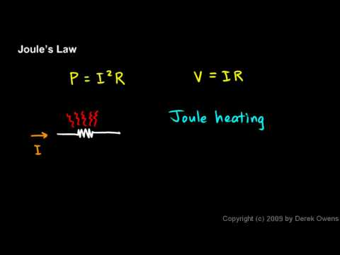 Physics 13.3.2a - Joule`s Law