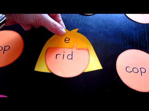 Preschool - Reading-Phonics-Spelling. Silent e, long vowel sounds with fun faces, hair, hats.