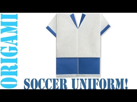 Origami Daily - 111: Soccer Uniform - TCGames [HD]